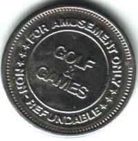 Golf and Games Silver Token Obverse